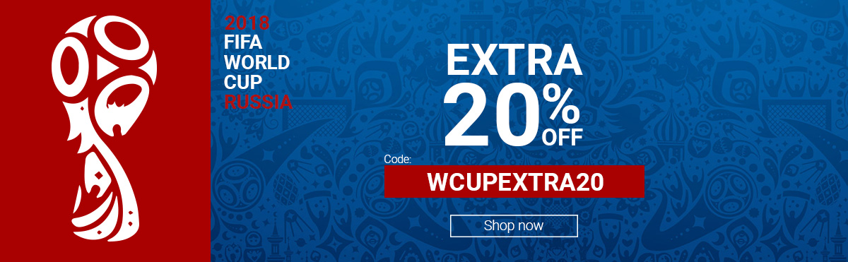 World Cup 2018 Extra 20% OFF WCUPEXTRA20
